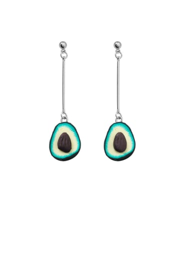 Alloy With Platinum Plated Simplistic Friut Drop Earrings