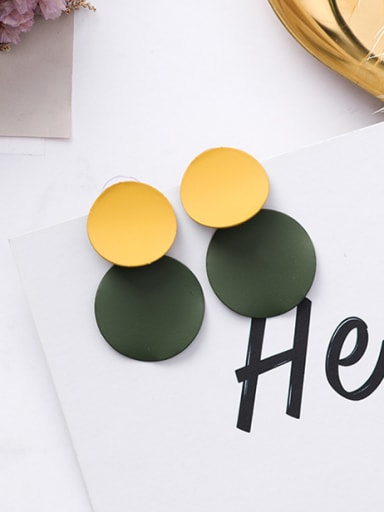 Alloy With Geometric concave-convex Disc Earrings Stud Earrings