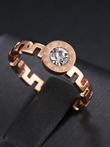 Stainless Steel With Rose Gold Plated Fashion The Great Wall pattern Rings