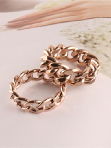 Personality Accessories Hollow Titanium Ring