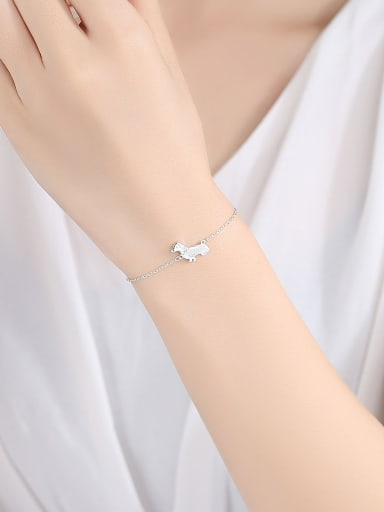 925 Sterling Silver With  Cute Little dog Bracelets