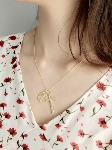 Sterling silver cross jesus necklace