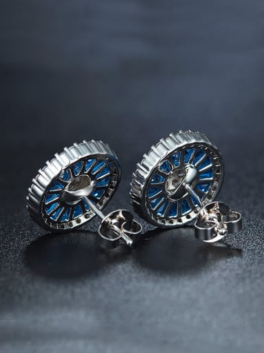 Blue Flower Cluster earring