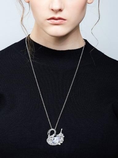 Fashion Elegant Swan Zircon Sweater Chain
