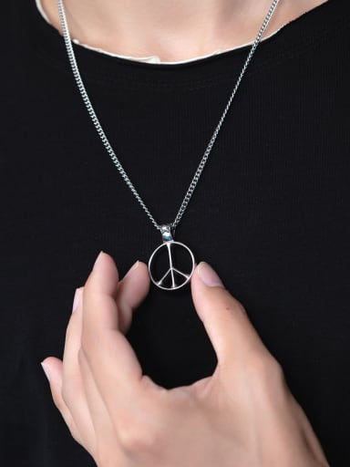 Stainless Steel With Vintage Geometric Necklaces