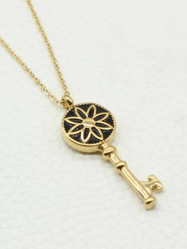 Gold Plated Key Shaped Necklace