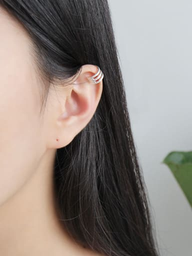 Sterling silver  simple pierced ear clip