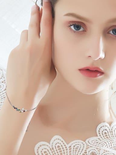 S925 Silver Colorful Crystal Bracelet