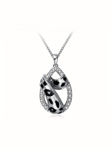 All-match Water Drop Shaped Leopard Necklace