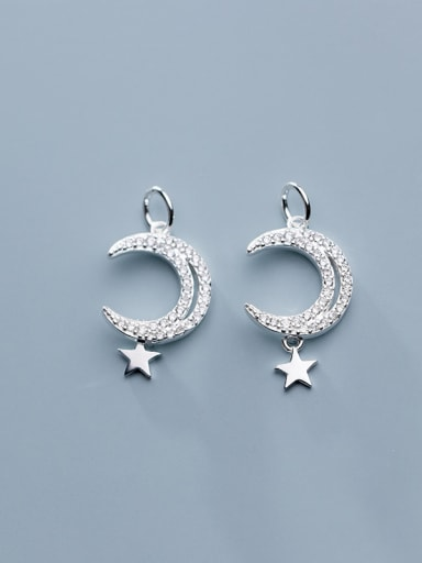 925 Sterling Silver With Cubic Zirconia  Personality Moon Pendants