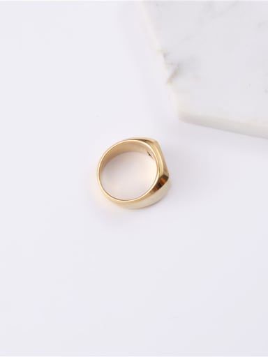 Titanium With Gold Plated Simplistic Geometric Band Rings