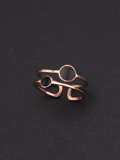Round Pattern Double Lines Simple Ring