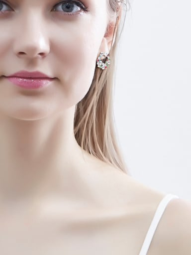 Multi-color Bowknot Shaped stud Earring