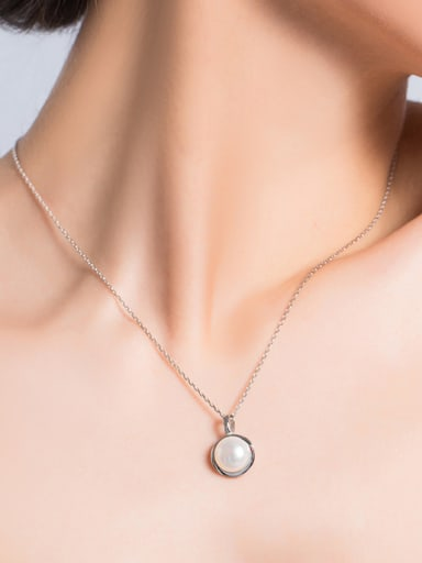 Simple Freshwater Pearl Round Necklace