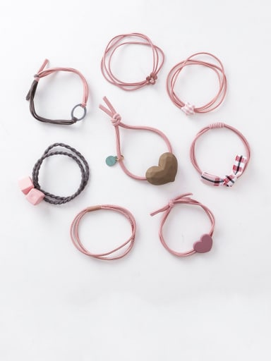 Alloy With Rose Gold Plated Simplistic Heart Hair Ropes