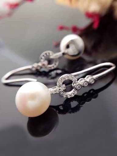 Fashion Freshwater Pearl Zircon hook earring