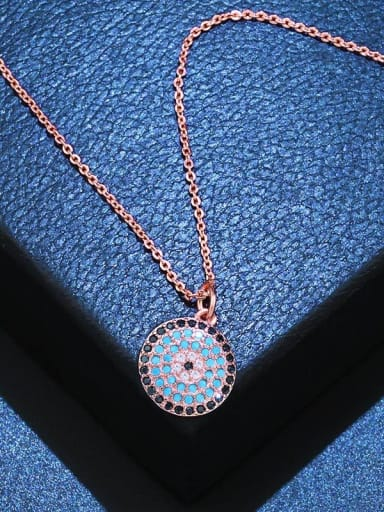 Copper With Cubic Zirconia Fashion Round Necklaces