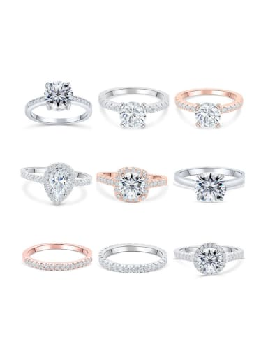 925 Sterling Silver With Cubic Zirconia Delicate Band Rings