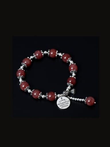 Handmade Lotus Aquamarine Crystal Bracelets