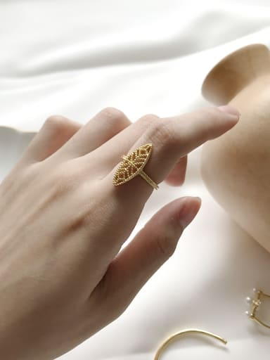 Sterling Silver Gold Plated lace ring