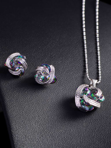 Lovely Fashion stud Earring Necklace Jewelry Set