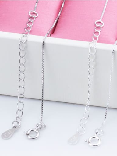 925 Sterling Silver With Silver Plated box chain 40cm-45cm