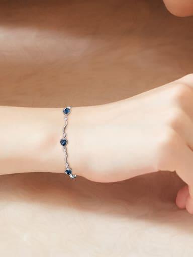 Simple Heart-shaped Swarovski Crystals Bracelet