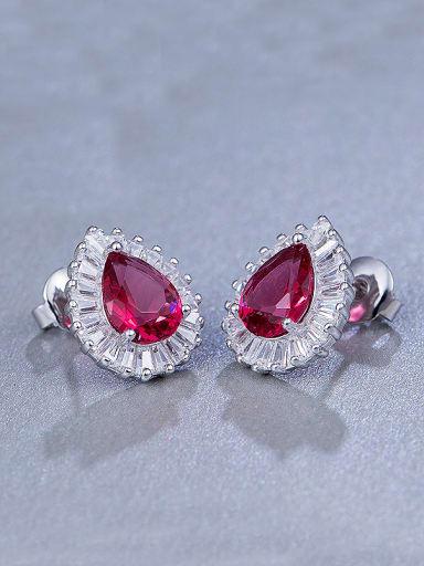 Water Drop Zircon Cluster earring