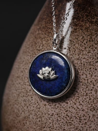 Beautiful Handmade Lotus Pendant Necklace