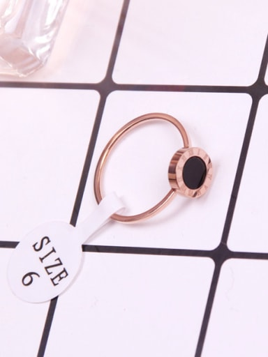 Rome Digital Black Agate Fashion Ring