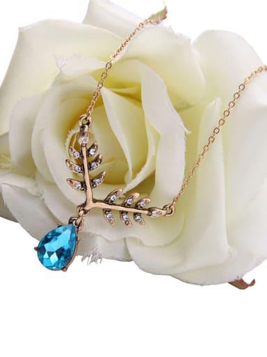 Beautiful Leaves-shape Drop Necklace