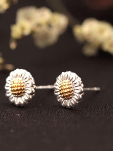 Sunflower Double Color stud Earring
