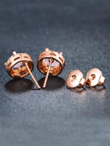 Round Pink Zircon Cluster earring