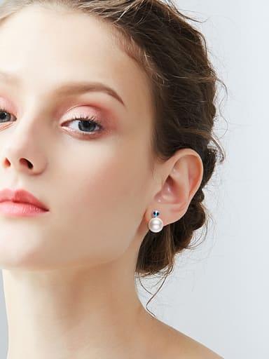 2018 2018 2018 S925 Silver Pearl stud Earring