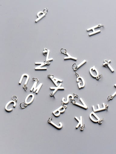 925 Sterling Silver With Silver Plated Trendy Monogrammed Charms