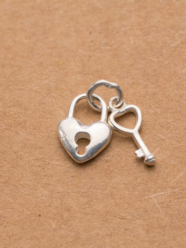 925 Sterling Silver With Silver Plated Classic Locket Charms