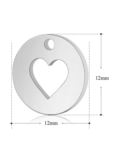 Stainless Steel With Classic Heart Charms