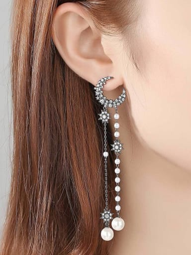 Copper With  Imitation Pearl Bohemia Charm Party Drop Earrings