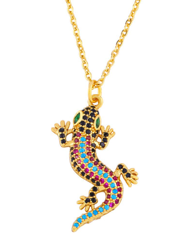 Copper With 18k Gold Plated Fashion Animal Fish Tail Necklaces