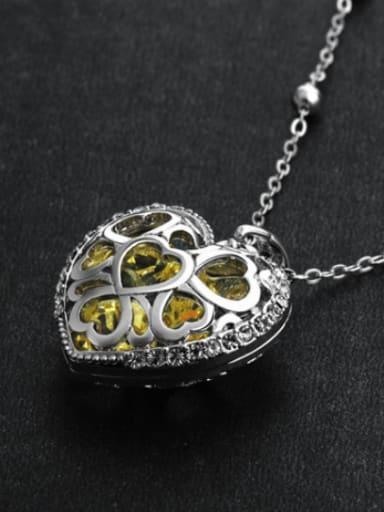 2018 2018 Heart-shaped Swarovski Crystal Necklace