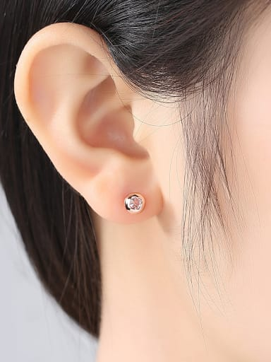 925 pure silver micro-inlay AAA zircon Four-leaf clover studs