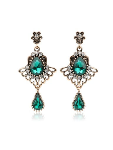 Ethnic style Water Drop shaped Resin stones Alloy Drop Earrings