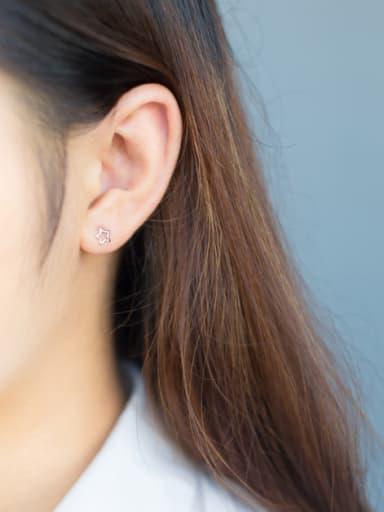 S925 Silver Sweet Star Stud cuff earring