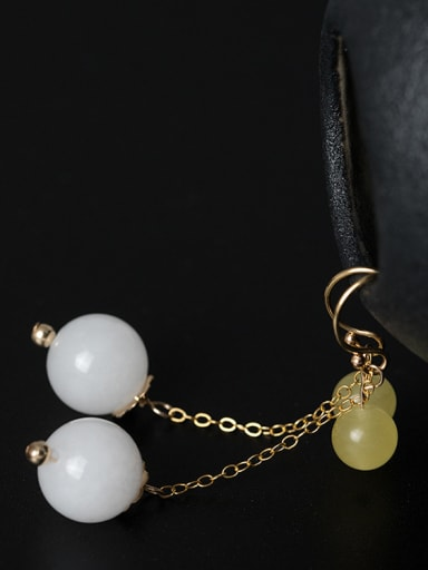 Fashion Natural Stone Beads 925 Silver Earings
