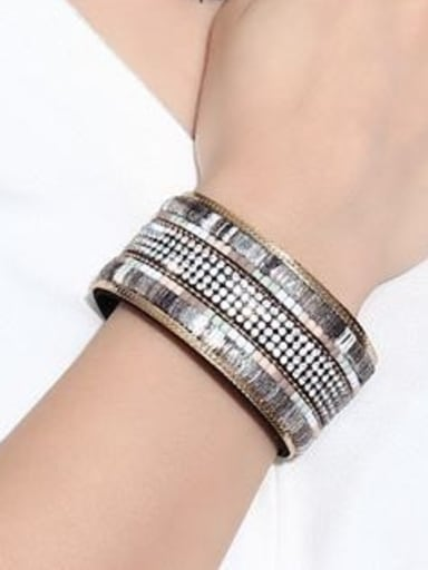 Exquisite Multi Layer Design Rhinestone Alloy Band Bracelet