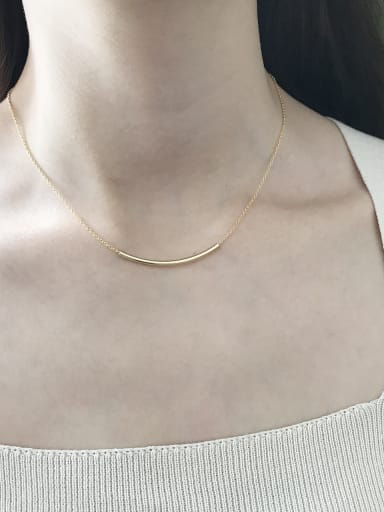 Sterling silver new square tube necklace