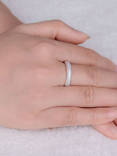 S925 Silver band ring