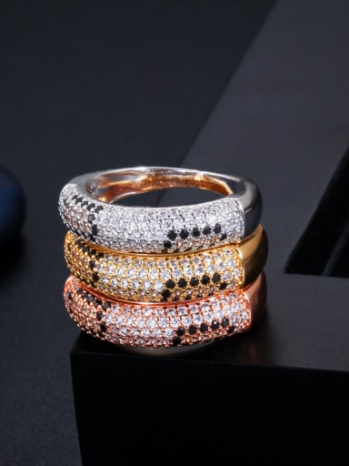 Copper With  Cubic Zirconia  Delicate Round Band Rings