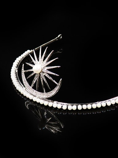 Sparking Artificial Pearls Wedding Micro Pave Zircons Hair Accessories