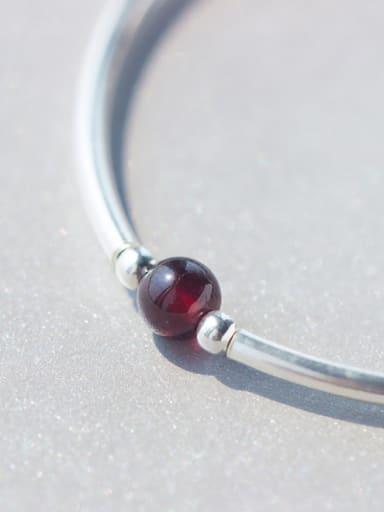 S925 Silver Sweet Natural Garnet Bracelet